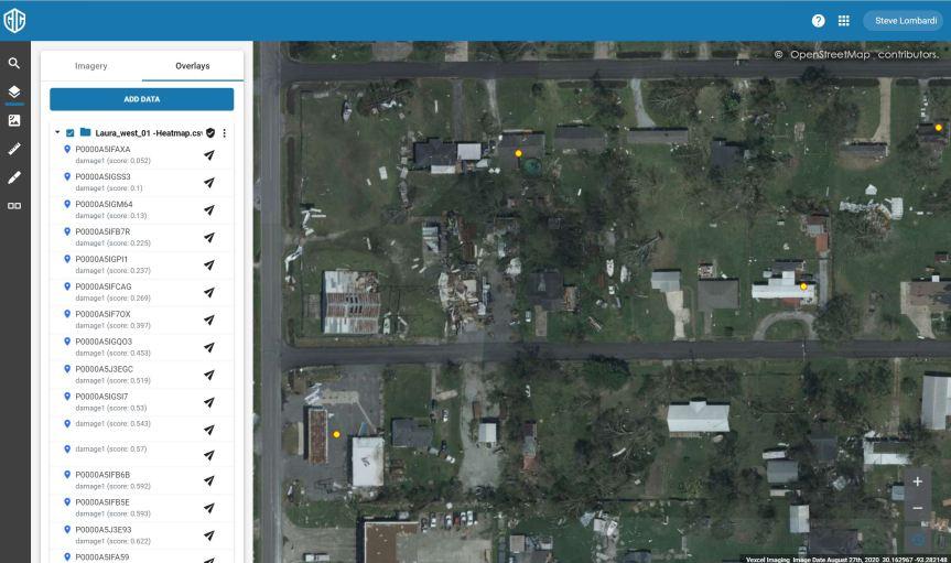 Data overlay in GIC Web App