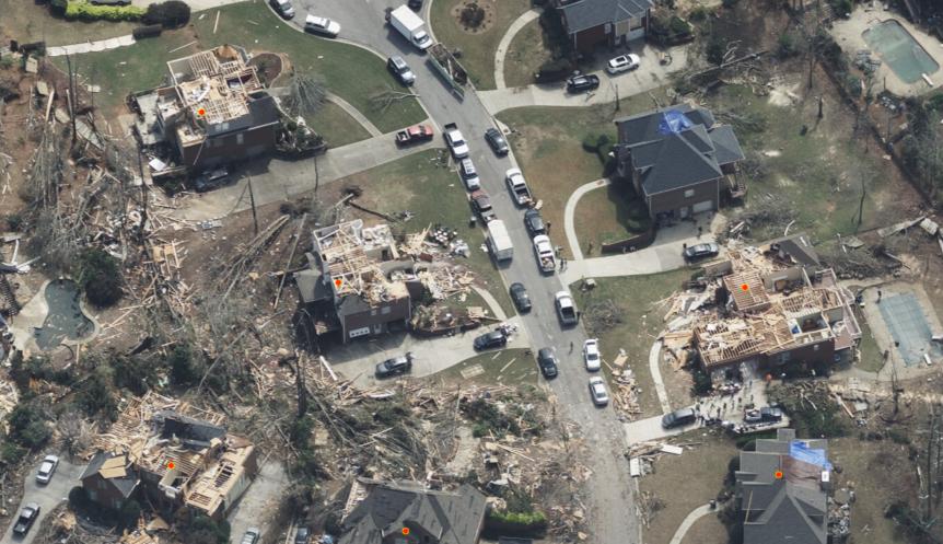 Tornado Imagery for Alabama and Georgia isLive